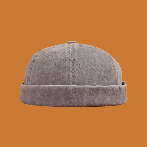 Plain Washed Denim Cap