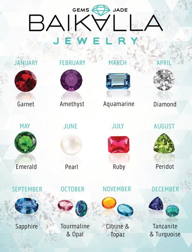 BIRTHSTONES FOR EACH MONTH | Birthday Gift | Birthstones Jewelry