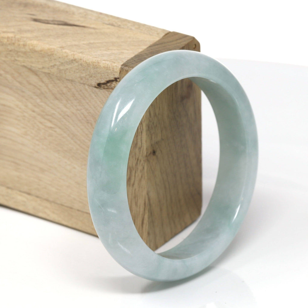 "Baikalla™ ""Classic Bangle"" Genuine Burmese High Quality Jadeite Jade Bangle Bracelet (58.6 mm) #531"