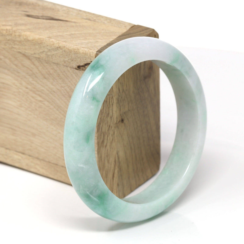 "Baikalla™ ""Classic Bangle"" Genuine Burmese High Quality Jadeite Jade Bangle Bracelet (58.52mm) #532"