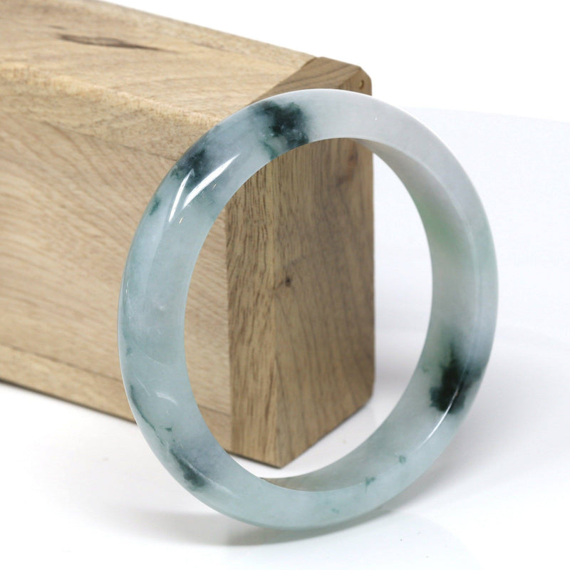 Genuine Burmese Ice Jadeite Jade Bangle Bracelet ( 60.91 mm )#535