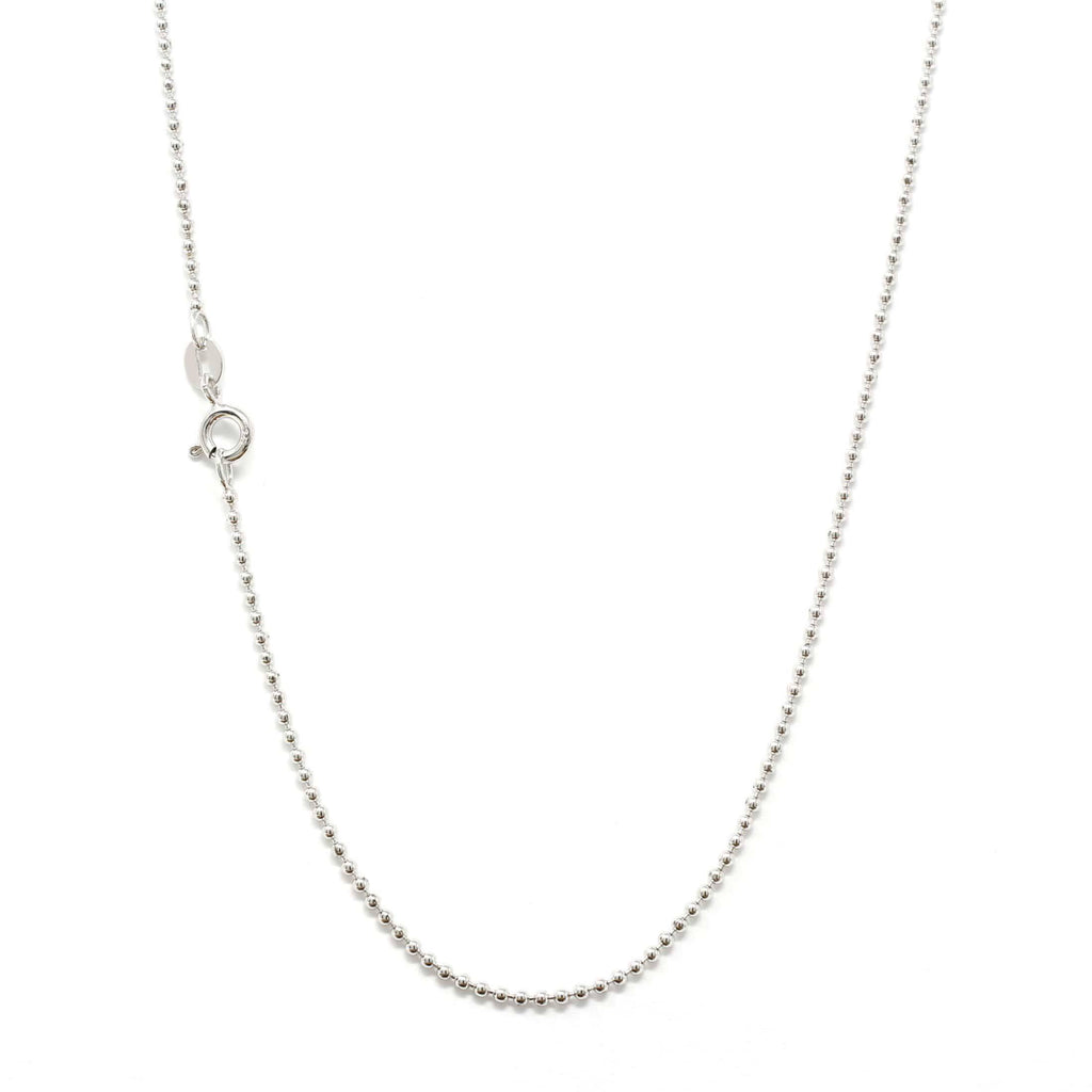 Italian Sterling Silver Bead Chain 18 inch
