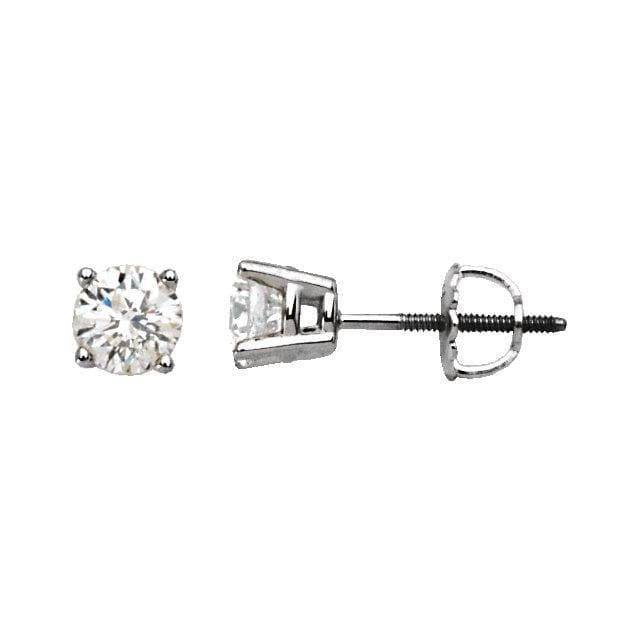 14K White 3 mm=1/5 CTW Diamond Earrings