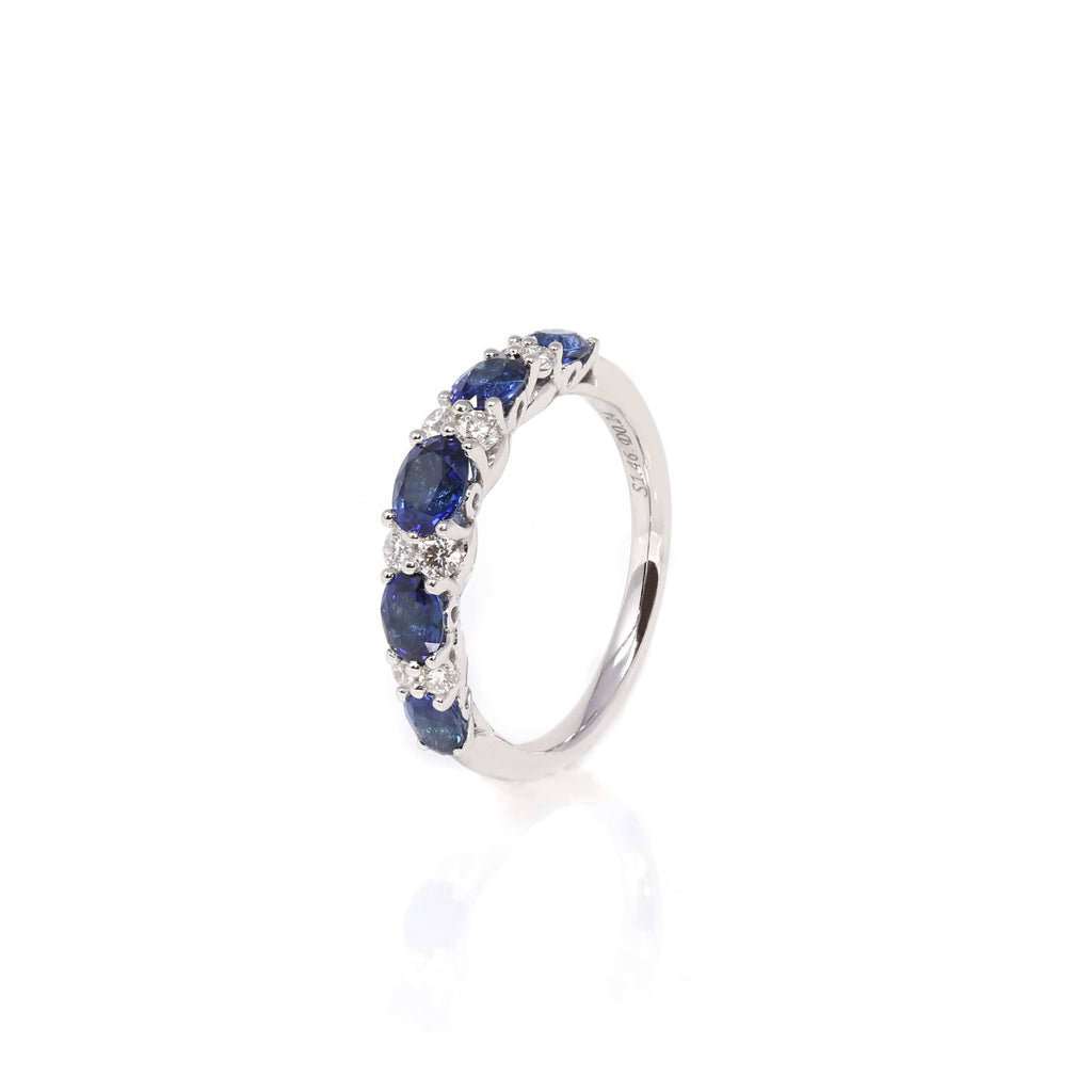 "Baikalla™ ""Savannah"" Natural Sapphire Channel Set Wedding Band"