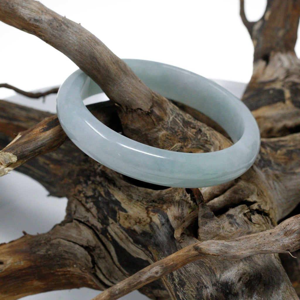 Genuine Burmese Jadeite Jade Bangle Bracelet ( 63.4 mm)#311