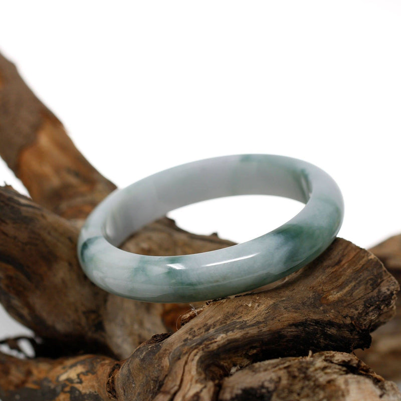 Real Burmese Jadeite Jade Bangle Bracelet (  57.3 mm )#467