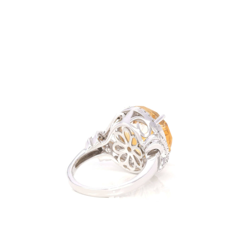 Baikalla™ Sterling Silver Natural Citrine 4 Prong Set Ring