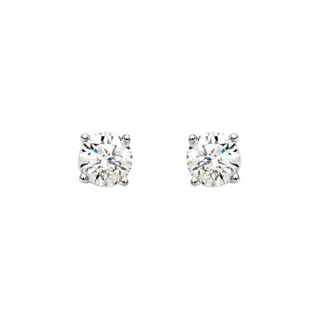 Platinum 5 mm=1 CTW Diamond Earrings