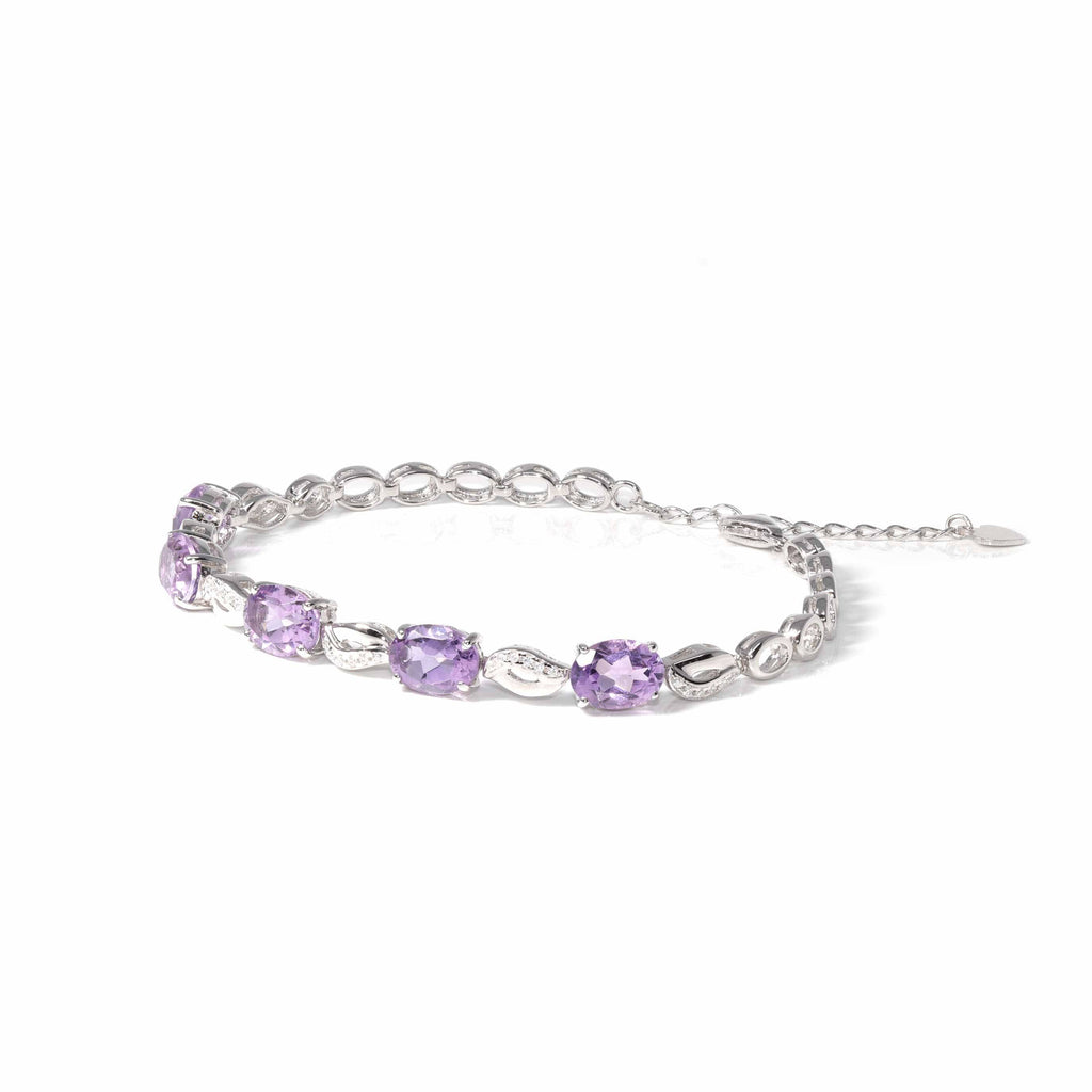 Baikalla™ Sterling Silver Natural Amethyst & Citrine Bracelet For Her