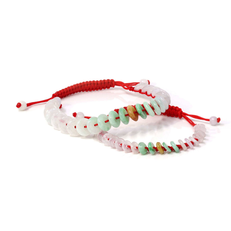 "Baikalla™ ""Lucky Coin"" Genuine Jadeite Jade Bracelet Bangle For Kids, Girls. Women"