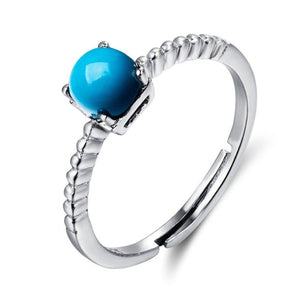 "Baikalla™ ""Elizabeth"" Sterling Silver Genuine Persian Blue Arizona Turquoise Ring"