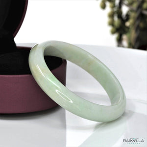 Genuine Burmese Jadeite Jade Bangle Bracelet ( 58.5 mm )#12