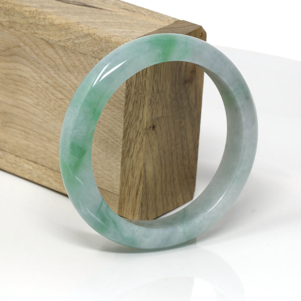 Genuine Burmese Green Jadeite Jade Bangle Bracelet ( 58.8 mm ) #68