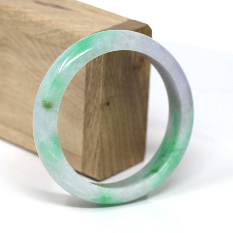 Natural Jadeite Jade Bangle Bracelet ( 60.0 mm )#440