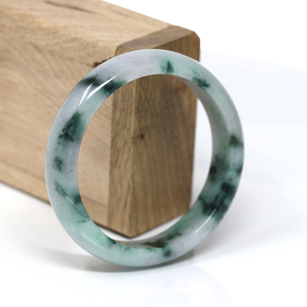 Real Jade Jadeite Bangle Bracelet ( 57.77 mm )#445