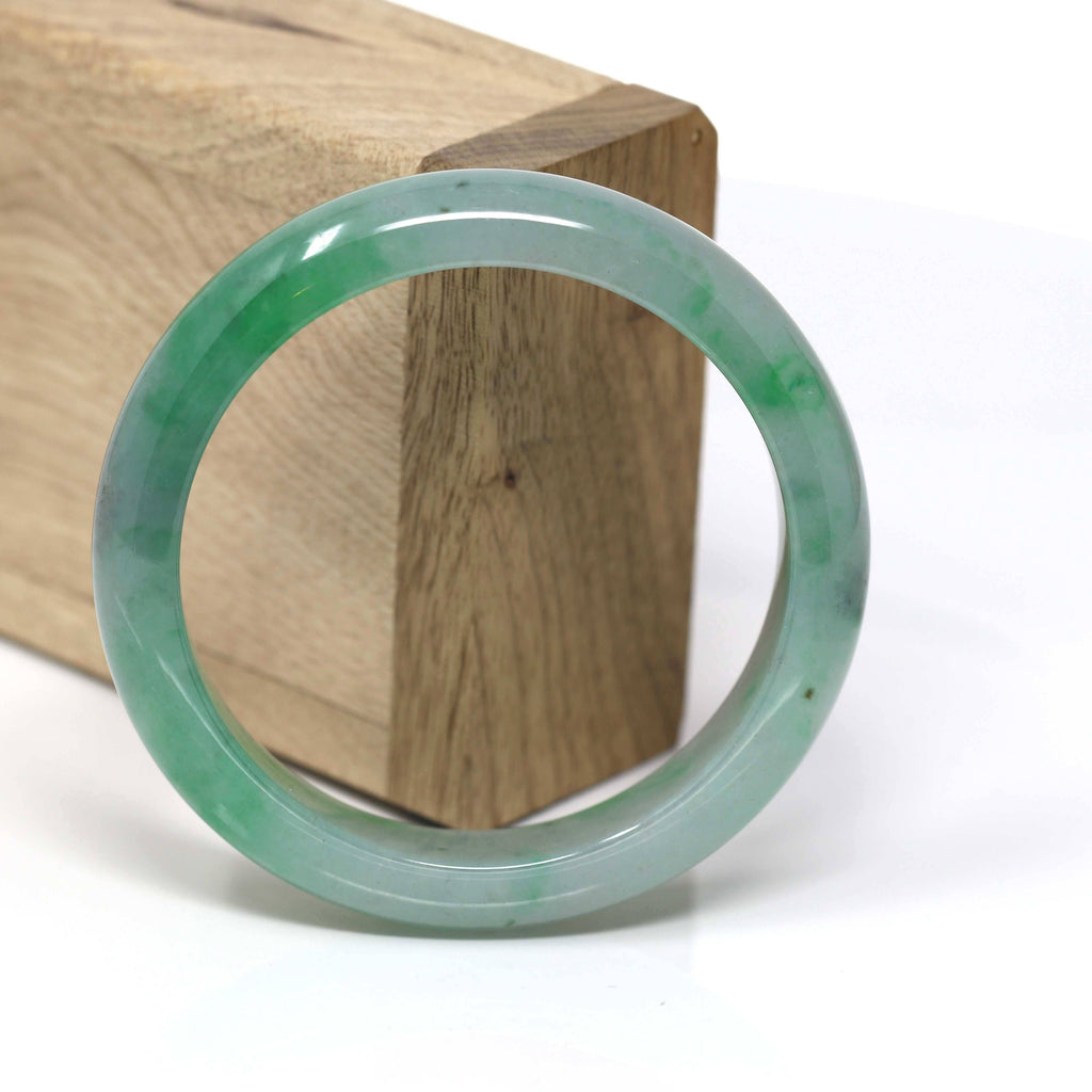 Genuine Burmese Jadeite Jade Bangle Bracelet (56 mm) #62