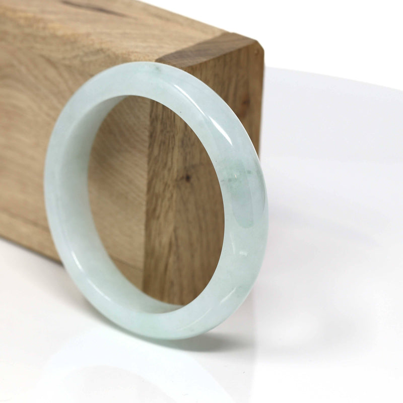 Real Jadeite Jade Bangle Bracelet ( 55.58 mm )#443