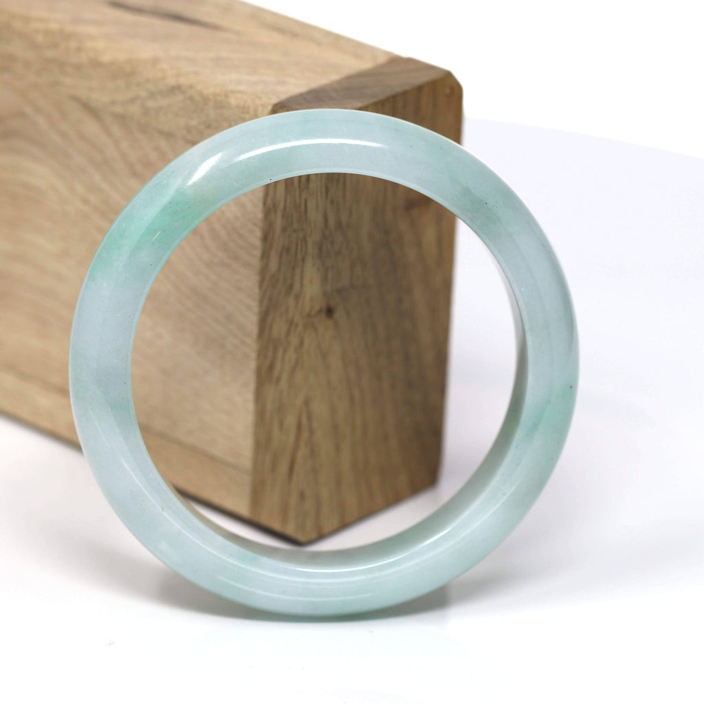 Natural Jadeite Jade Bangle Bracelet ( 56.7 mm ) #480