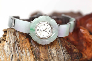 Genuine Burmese Lavender- Green Jadeite Jade Watch (Art & Collectibles)