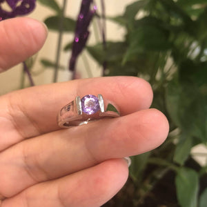 Baikalla™ Sterling Silver Oval Swiss Blue Topaz & Amethyst Ring