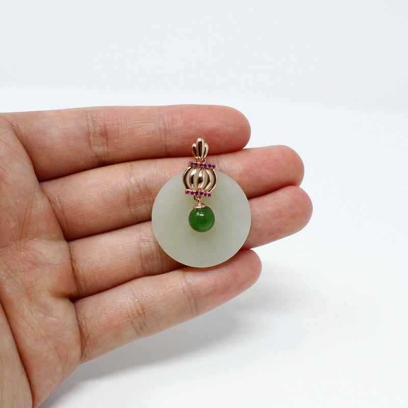 Simple white jade with crown design