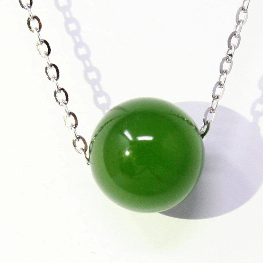 Natural Nephrite Jade Bead Necklace