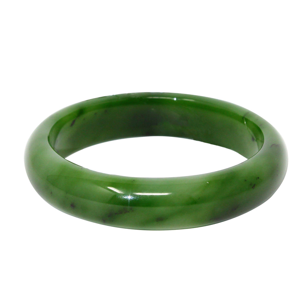 Genuine Nephrite Green Jade Bangle 59mm