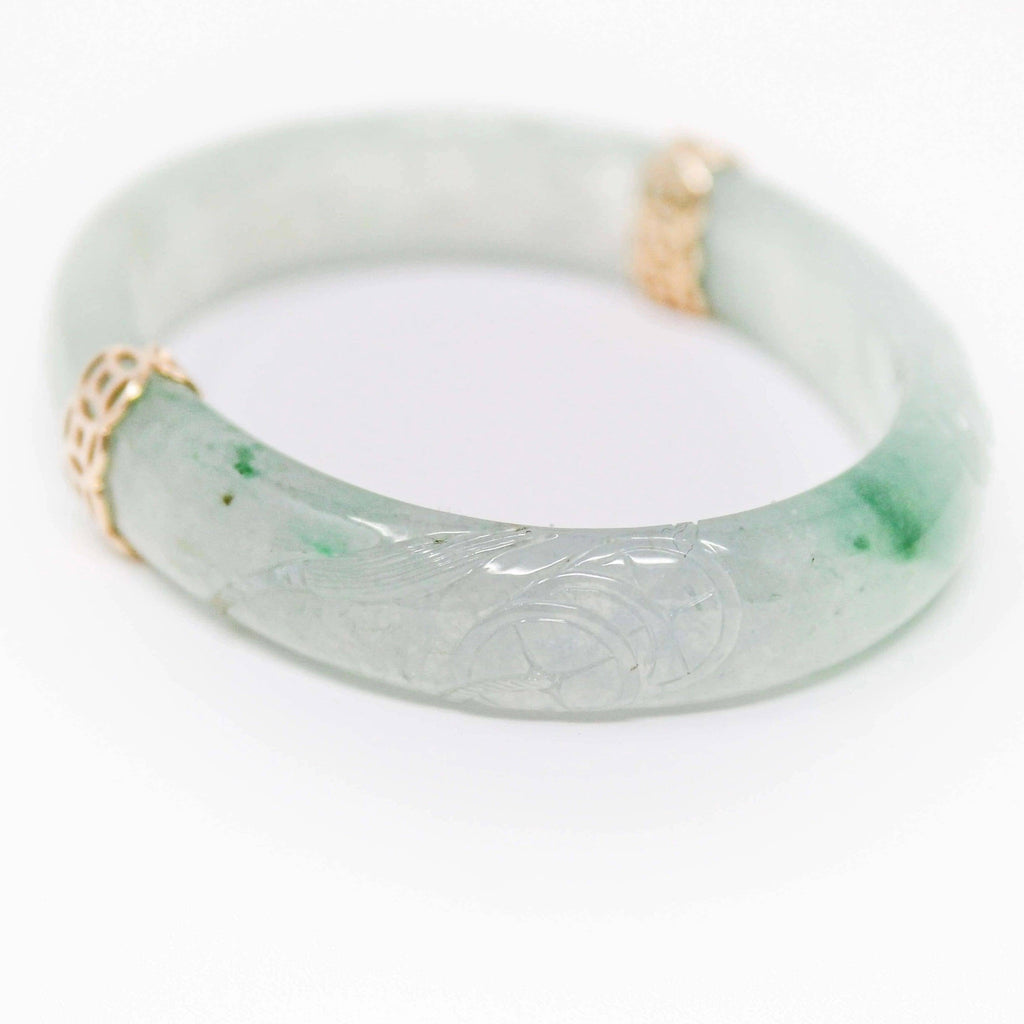 18k Genuine Oval Jadeite Jade (high quality) Bracelet Bangle  ( 54.4 mm )#66