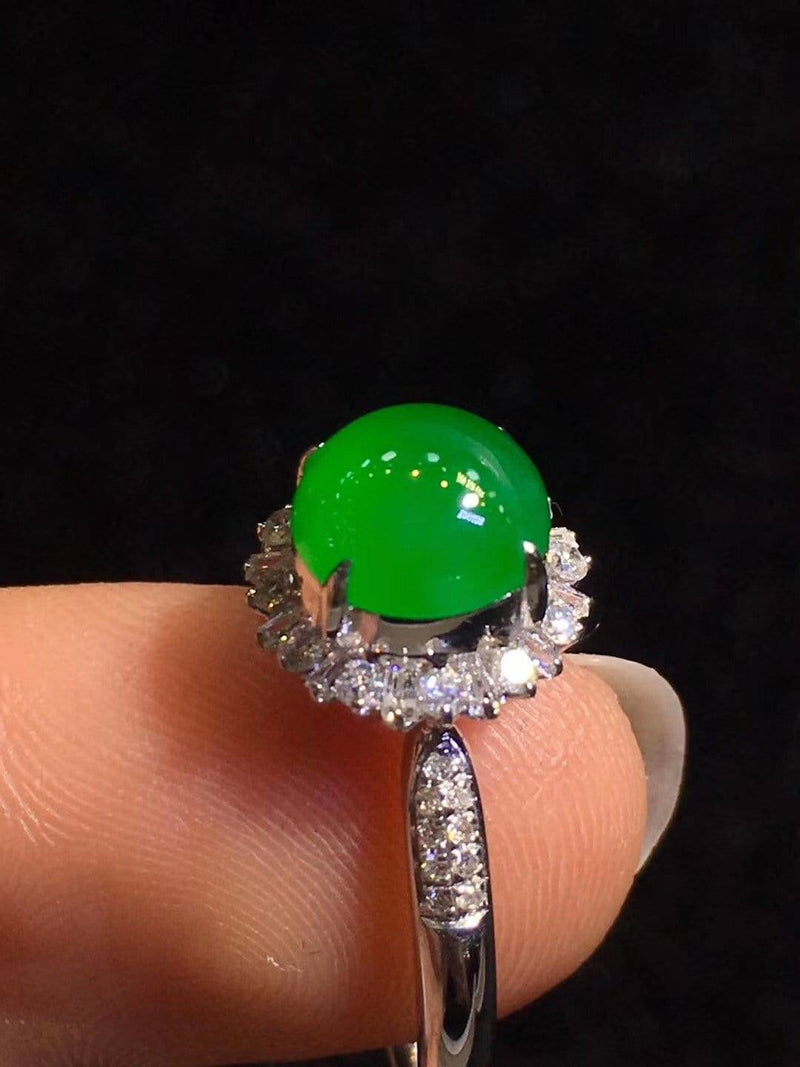 High-End Imperial Jadeite Jade Luxury Ring ( Collectibles ) L93