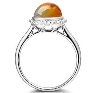 18K Gold Ethiopian Opal Rope Ring