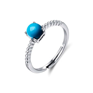 Sterling Silver Genuine Persian Blue Arizona Turquoise Ring