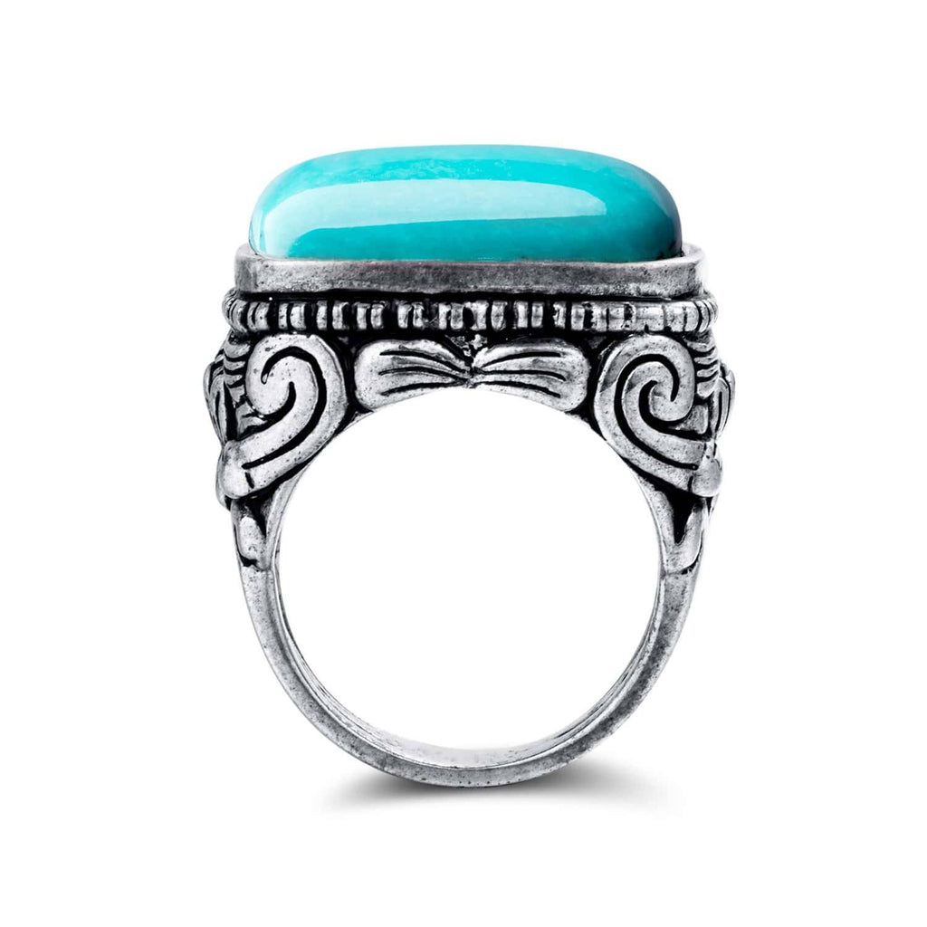 Sterling Silver Genuine Well Persian Blue Arizona Turquoise Ring