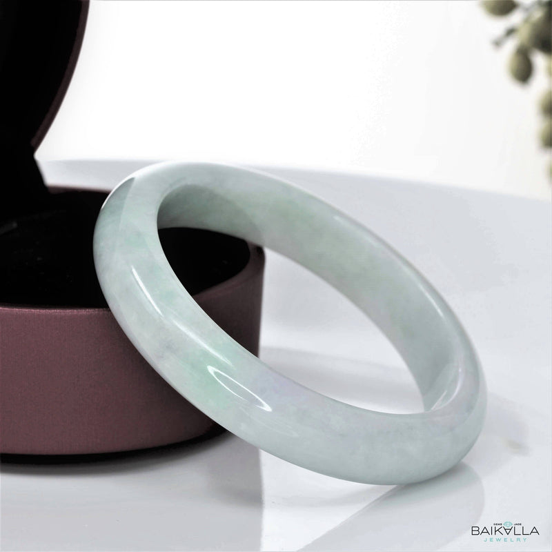Genuine Burmese Jadeite Jade Bangle Bracelet ( 58.6 mm )#21