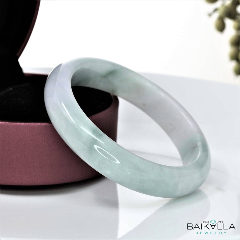Genuine Burmese Jadeite Jade Bangle Bracelet ( 58 mm ) #36