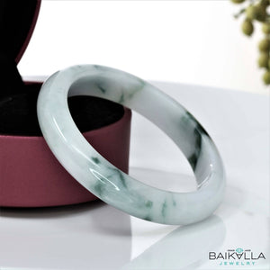 Genuine Burmese Jadeite Jade Bangle Bracelet (  58.4 mm )#39