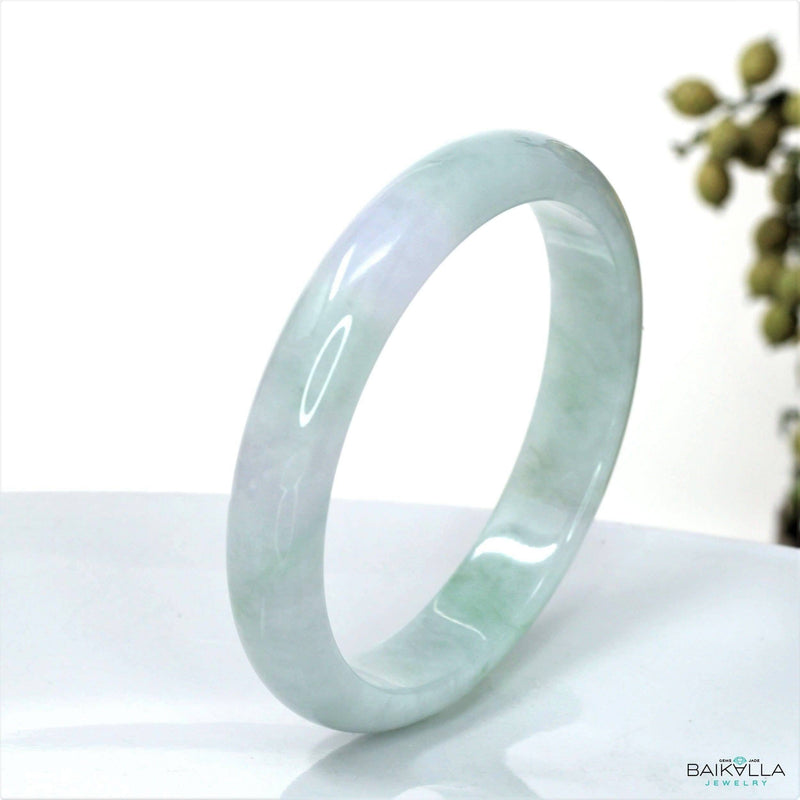 Genuine Burmese Jadeite Jade Bangle Bracelet ( 63.3 mm )#10