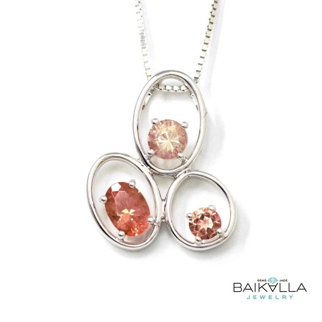 "Baikalla™ ""Charlotte"" 14k Gold 3 Oregon Sunstones Pendant Necklace"