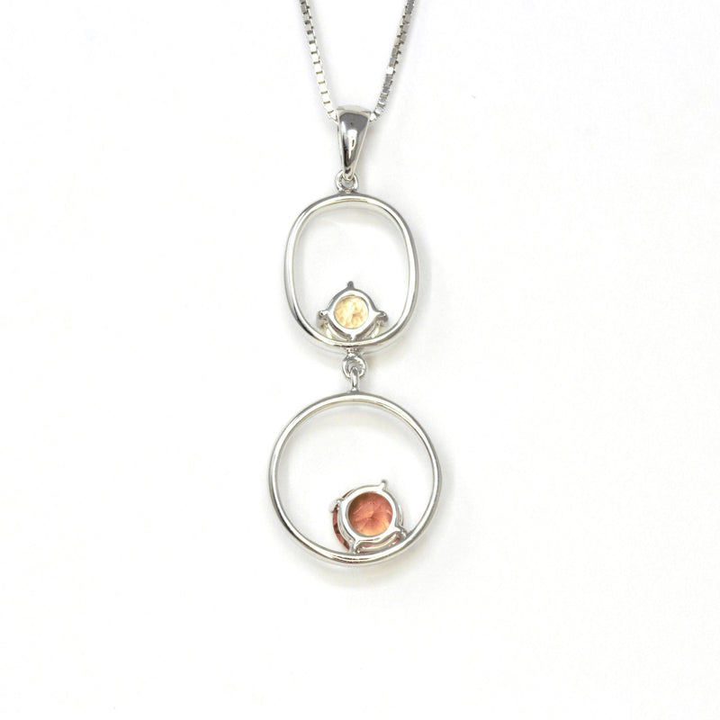 "Baikalla™ ""Diana"" 14k Gold Natural  2 Oregon Sunstones Pendant Necklace"