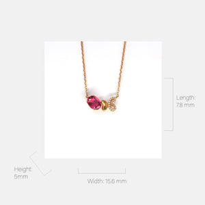 18K Rose Gold Baby Pink Tourmaline & 1/5 CTW Diamond Pendant Necklace Baikalla Jewelry