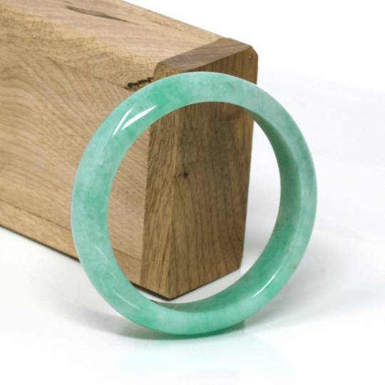 Genuine Jadeite Jade Bracelet Bangle  ( 57 mm )#110
