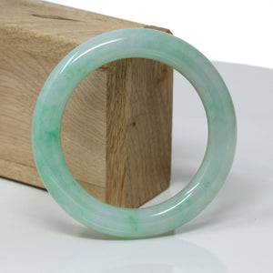 Genuine Burmese Green Jadeite Jade Bangle Bracelet ( 57.1 mm) #314