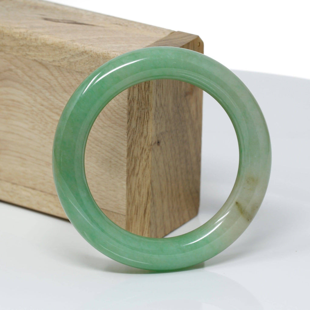 Genuine Burmese Green Jadeite Jade Bangle Bracelet ( 53.1 mm) #316
