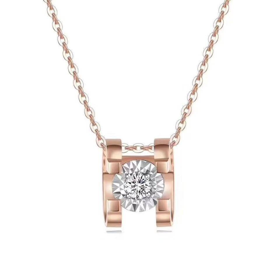 "Baikalla™ ""You are the only one to me"" 18k gold diamond necklace"