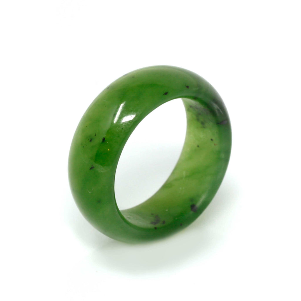 Natural Forest Green Nephrite Jade Ring