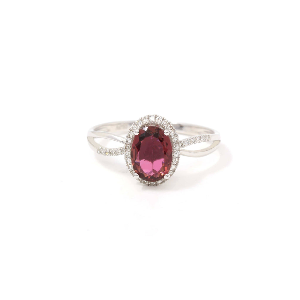 18k Rose Gold Natural Violet Tourmaline Ring