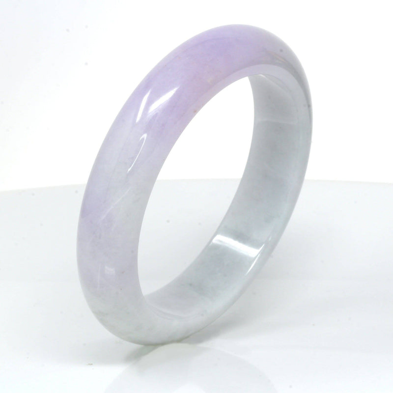 Genuine Burmese Lavender Jadeite Jade Bracelet Bangle ( 58.3 mm )#73