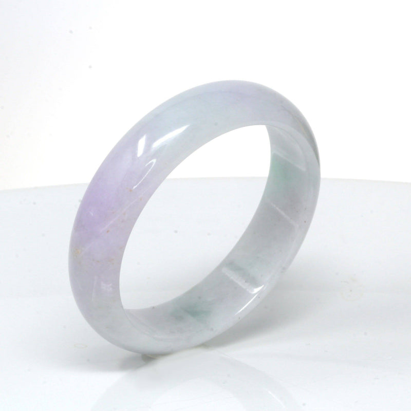 Genuine Burmese Lavender Jadeite Jade Bracelet Bangle ( 53.3 mm )#77