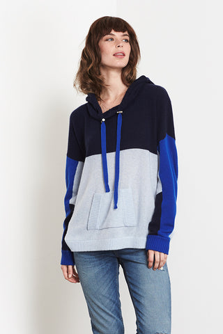 Colourblocked Hoodie | Navy - Sky Blue - Klein Blue - Banjo & Matilda | International  - 1