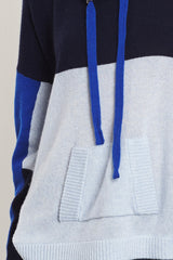Colourblocked Hoodie | Navy - Sky Blue - Klein Blue - Banjo & Matilda | International  - 2