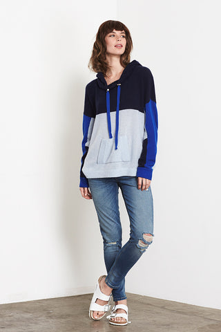 Colourblocked Hoodie | Navy - Sky Blue - Klein Blue - Banjo & Matilda | International  - 3
